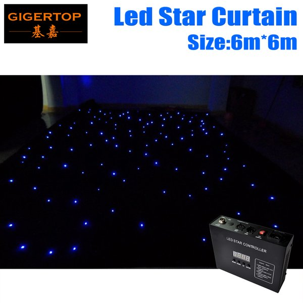 High Quality 6M*6M Fireproof LED Star Cloth LED Vision Cloth LED Curtain Cloth Background Stage Light, 90V-240V 45 degree Viewing Angle