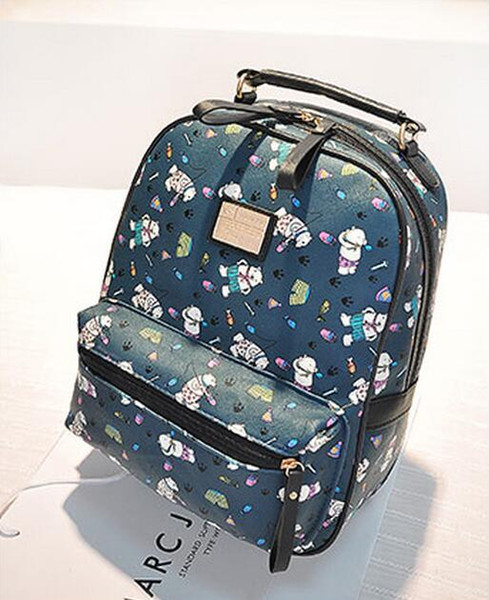 Free shippingCute Little Bears Women Backpack Bags Print students Students Shoulder School Bags
