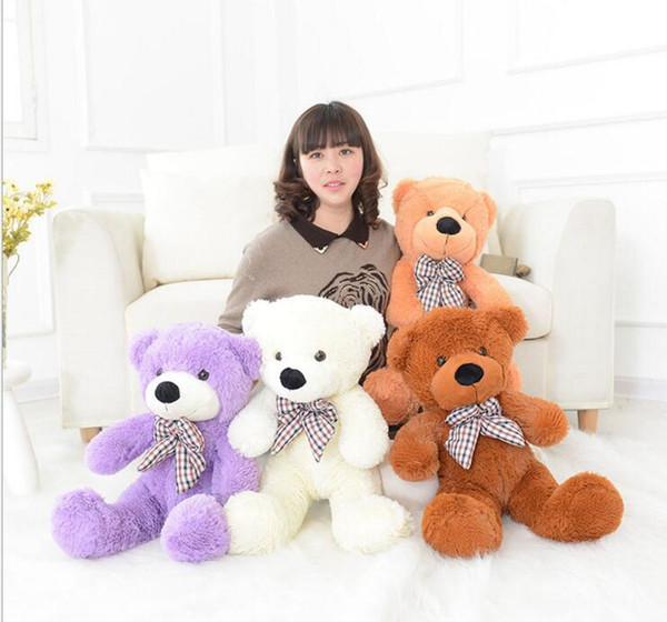 2017 Hot Sale 60cm small teddy bear plush toys kids mini soft stuffed animals children big peluches baby doll for women Gift