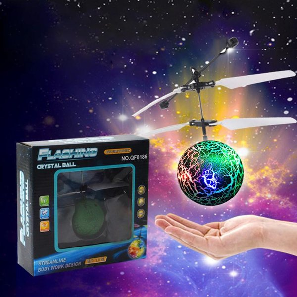 Wholesale- EpochAir Flying Ball Green Drone RC Helicopter with Led Ball Built-in Shinning LED Lighting Aircraft rc simulator