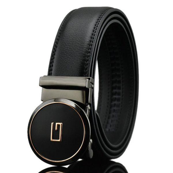 top popular Brand new original leather designer Big buckle men's belt luxury Buckle belt top fashion mens Genuine leather luxury belts 2019