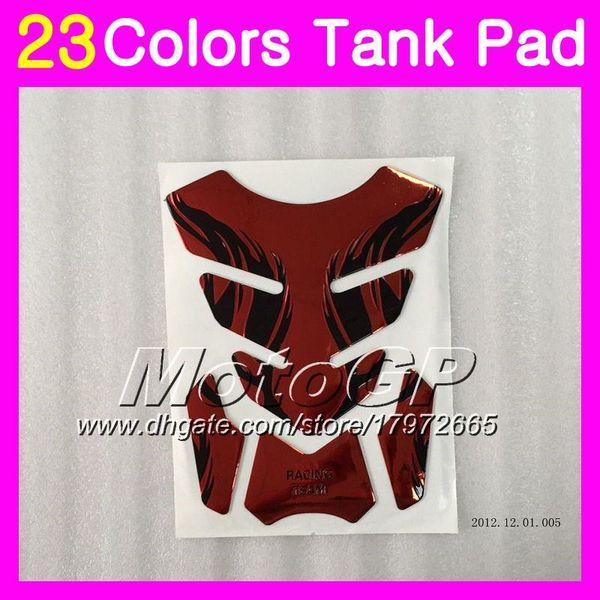 best selling 23Colors 3D Carbon Fiber Gas Tank Pad Protector For KAWASAKI NINJA ZXR400 91 92 93 94 95 96 ZXR-400 ZXR 400 1991 95 1996 3D Tank Cap Sticker