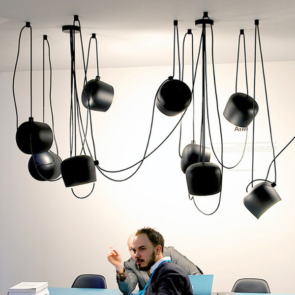 Nordic Small Drum Pendant Lamps White Black Modern Pendant Lights Fixture Home Indoor Lighting Restaurant Cafes Hanging Lamp Droplight
