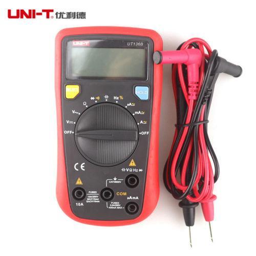 UNI-T UT136B Digital Multimeter DC/AC Auto-range V/A Cap Frequency Diode Tester