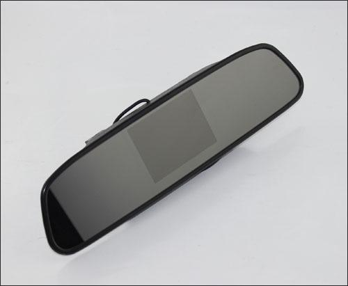 2.4G Wireless Car Rearview PZ603W 4.3 Inch Display TFT LCD Screen Camera Monitor 2 Way Video In EMS