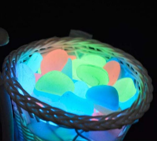 Garden Decoration Crafts Glow In The Dark Luminous Pebbles Stones Wedding Romantic Evening Festive Events Supplies
