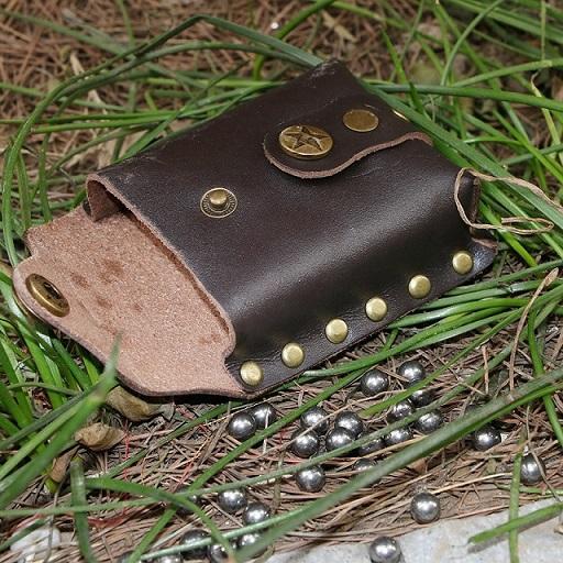 Brown Slingshot ball bag