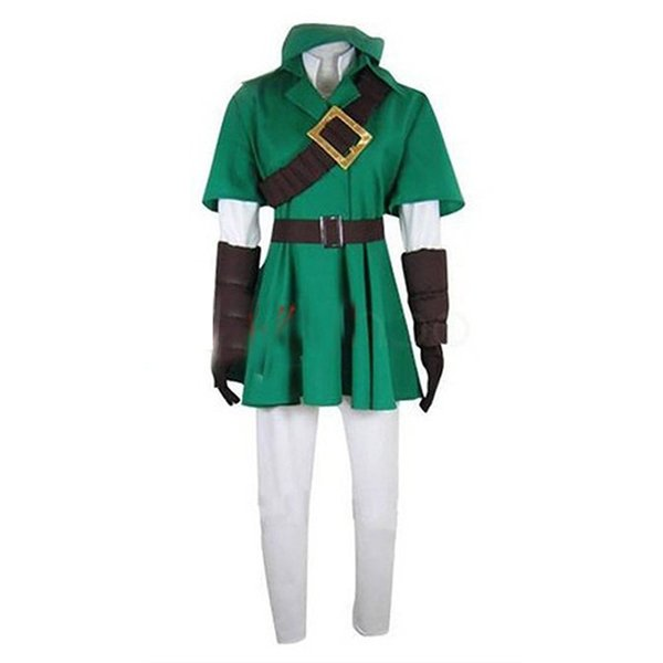 Kukucos Anime The Legend of Zelda Link Cosplay Costume Halloween Party Dress Up Suit