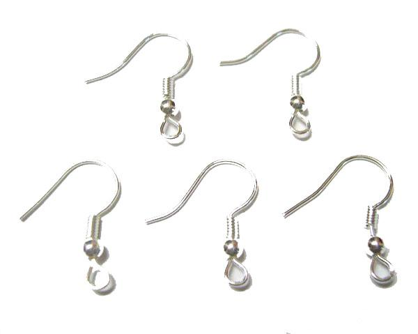 200pcs/lot Silver Plated Earring Hooks Findings Components For DIY Craft Jewelry 15mm W25 Free Shipping