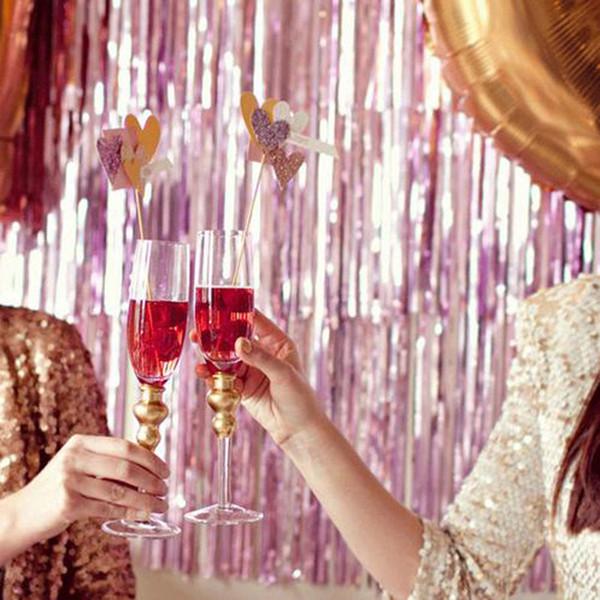 Fringe Door Rain Curtains Party Christmas Boda Photo Booth Props Matrimonio Recolección Telón de fondo Decoración
