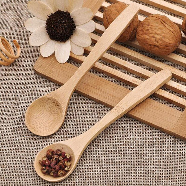 best selling 13cm Wooden Tea Spoon Feeding Small Wooden Kid Baby Child Safety Spoon Coffee Spoon Baby Spoons