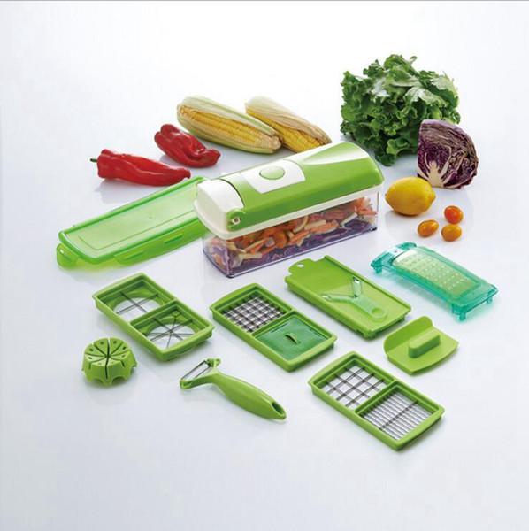 Super Slicer Plus Vegetable Fruit Peeler Dicer Cutter Chopper Nicer Grater Multifunction Cutting Kitchen Tools 24 Sets OOA1889