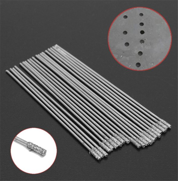 20pcs 1.5MM Diamond Coated Tipped SOLID BITS Drill Drills Bit Hole Saw Hand Tool Parts
