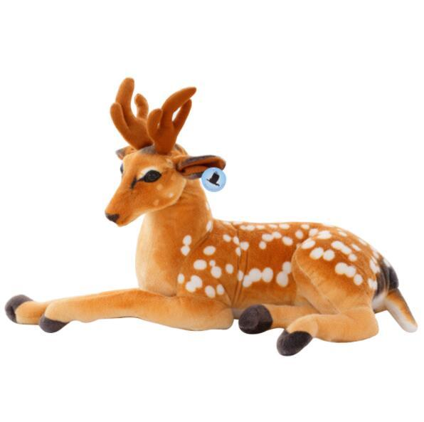50cm Simulation Deer Plush Toy Staffed Sika Deer Toy for Kids Baby Doll Children's Birthday Gift