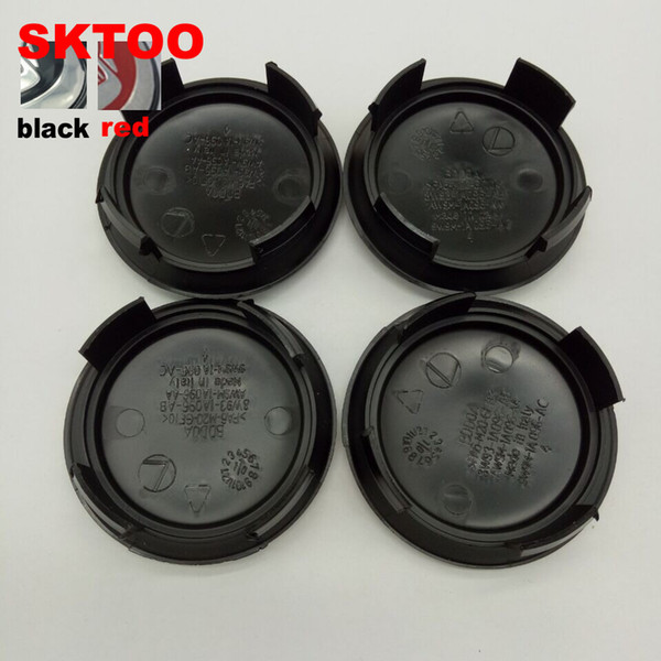 "40pcs lot 58mm 2.28"" Black red for Jaguar wheel Center Cover Hub Caps Fit for Jaguar XJ8 XK8 XKR S Type X type"