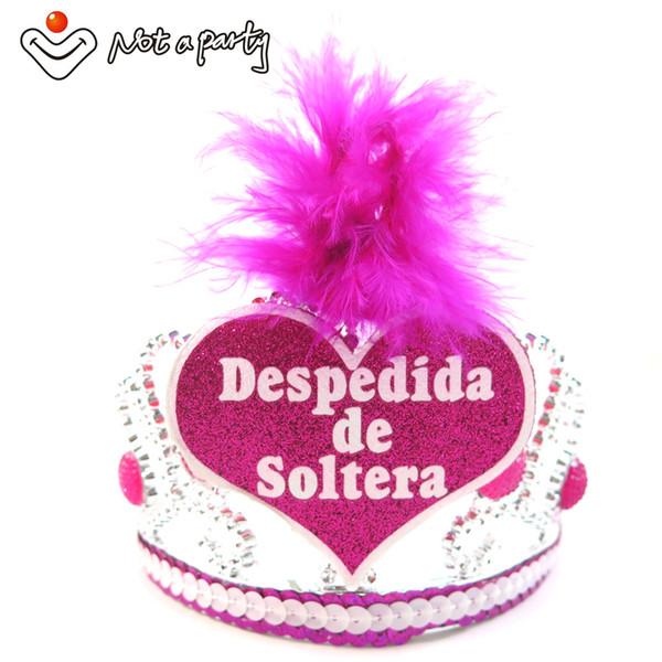 Al por mayor-bodas, eventos de bodas, chicas de habla hispana, noche, tiara, novia, accesorios, noches de gallina.