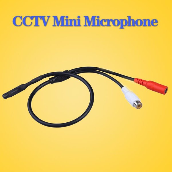 LLLOFAM Audio pick up CCTV Microfono Wide Range Camera Mic Audio Mini Microfono per CCTV Security DVR