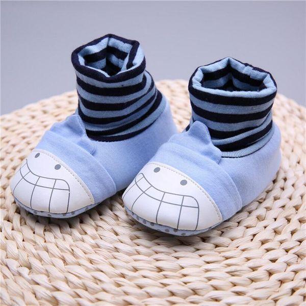 Toddler New Arrivals Soft Sole Crianças Menina de algodão Do Bebê Primeiros Caminhantes Little Girl Boy Sapatos com Meias