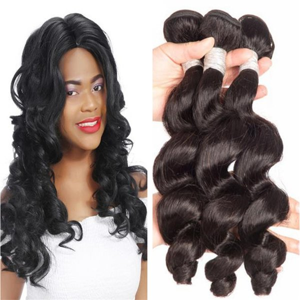 Hot sale 1b bouncy curls funmi hair 100 virgin peruvian human hair weave for black 3PCS free shipping
