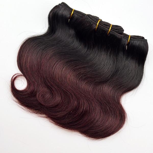 Fashion 6 Pcs Lot Ombre Burgundy Human Hair Malaysian Body Wave 1b 99j Wine Red Body Wave Bundles Short Malaysian Virgin Hair