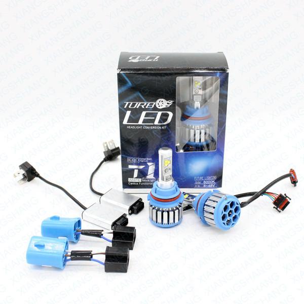 XIANGSHANG Led Car Headlight 9007 HB5 Hi/Lo ADOB Beam Turbo Leds Auto Headlight Bulbs Xenon 6000K White Lighting Bulb
