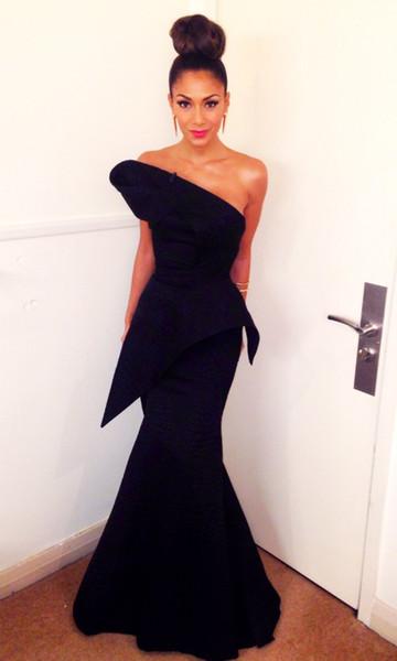 2018 сексуальная дешевые арабский черное платье плюс размер платья выпускного вечера русалка вечерние платья