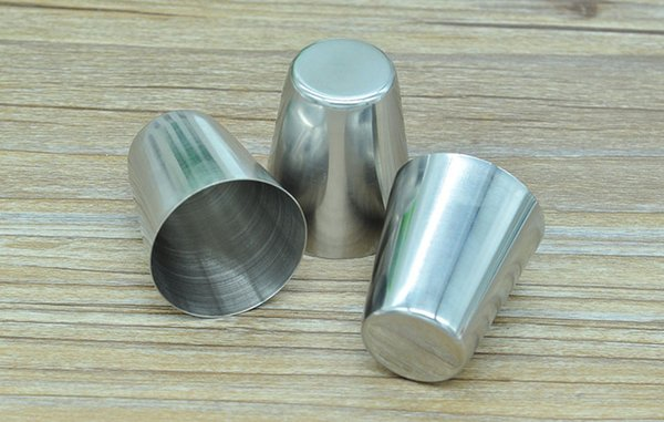 top popular Stainless Steel Hip Flasks Wine Cups Portable Outdoor Whisky Stoup Wine Pot Alcohol Cup Wholesale Free Shipping 2021