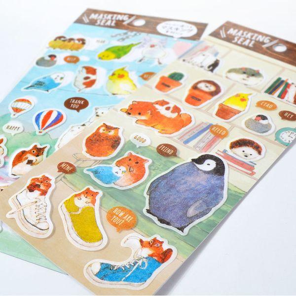 Gros- bricolage coloré dessin de couleur ou un motif autocollants Journal Kawaii Planner Note du Journal Journal Papier Scrapbooking PhotoTag