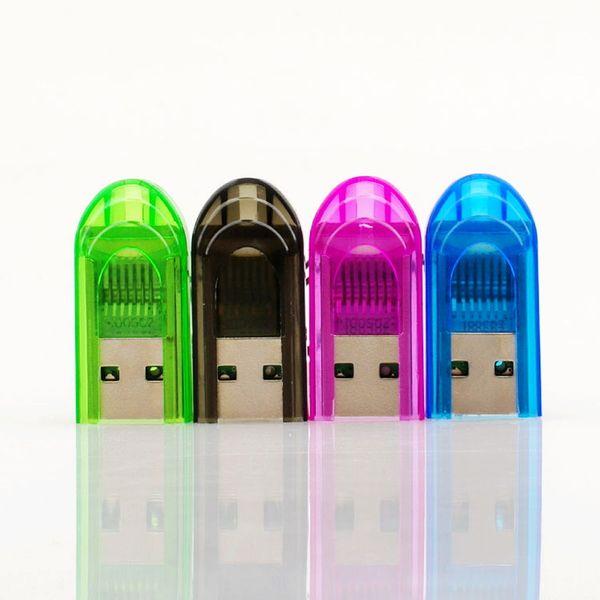Toptan Tiny Anahtarlık USB Micro SD SDHC TF Kart Okuyucu 2 GB 4 GB 8 GB 16 GB USB 2.0 Transflash Memroy Kart Okuyucu