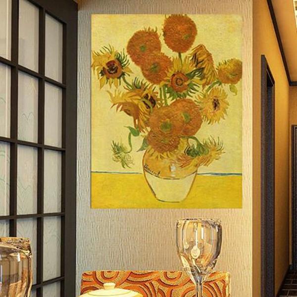 Acheter Vase De Quinze Tournesols Giclée Par Vincent Van Gogh Peindre Mur Huile Peinture Tableau Photo De 82 3 Du Cyon2017 Dhgate Com