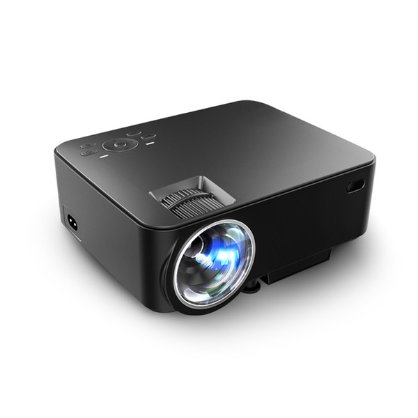 Wholesale-ATCO 2016 New CT-200 Portable Digital Mini 1500lumens LED LCD Projector HD 1080P Home Theater Beamer support USB SD VGA ATV HDMI