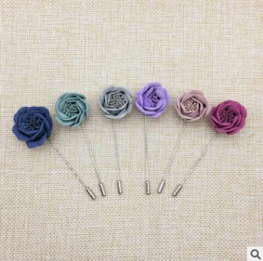 New Suit the dress wedding party brooches corsages wholesale high-grade fabric long needle Han edition dress color butyl cloth corsage