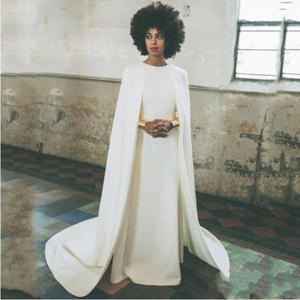 Großhandel 2018 Aso Ebi Abendkleider Mit Wrap / Jacke Juwel Satin ...