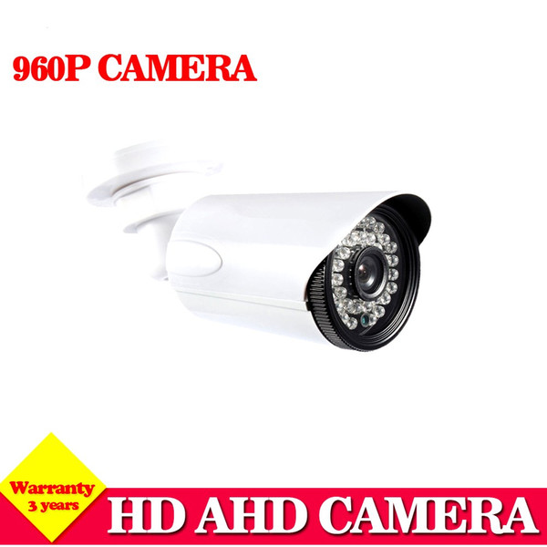 Home White AHD CCTV Camera 1.3MP 2500TVL IR-Cut Filter 960P Indoor Outdoor Waterproof 3.6mm Lens Security HD Camera System