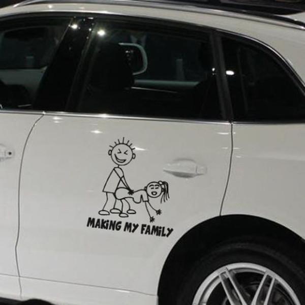 Großhandel Auto Dekorative Machen Meine Familie Auto Aufkleber Cartoon Auto Aufkleber Auto Aufkleber Körper Aufkleber Qpw0005 Von Myjewelry 283 Auf