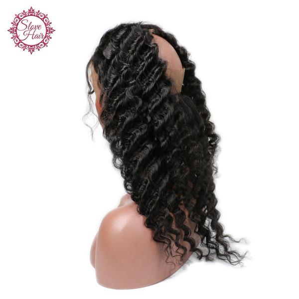Slove hair 360 Lace Frontal Closure Deep Wave Brazilian Virgin Hair 360 Full Lace Frontal Natural Hairline Lace Virgin Hair Frontal Closure