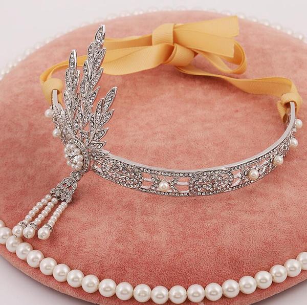 Lujoso Junoesque chispa coronas coronas de novia boda coronas nupciales joyería tiaras accesorios para el cabello con la venda del pelo