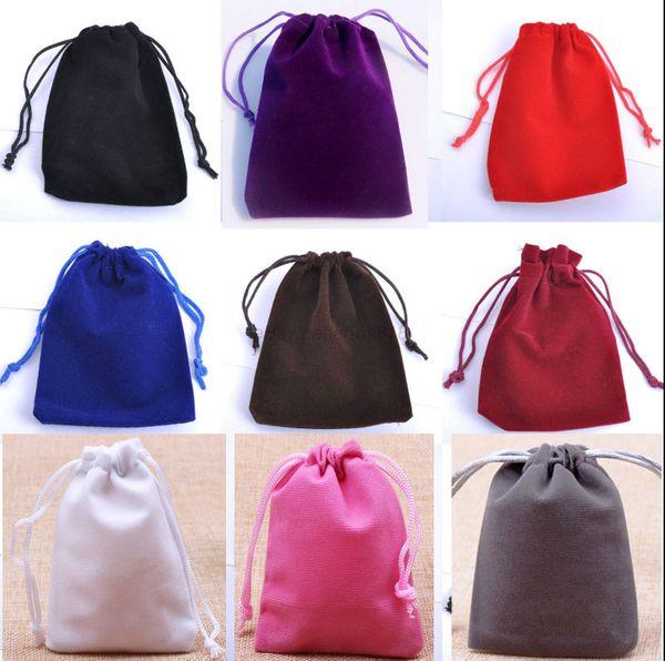 Petit sac à cordon en velours 7x9 cm (2,75 x 3,5 pouces) Paquet de 100 anneaux