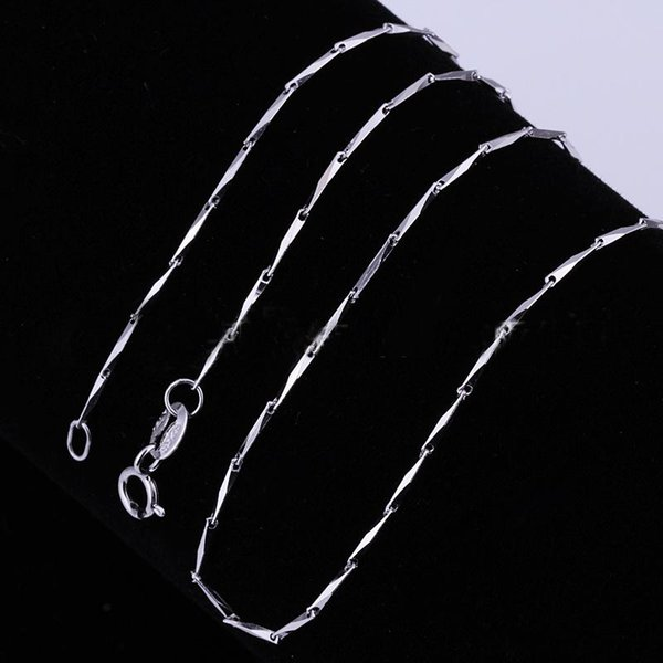 Lowest Price 925 Silver Box Chain Seeds Chain Necklaces Jewelry TOP Quality 925Silver Plated 1mm 2.5g 18inch 50pcs fashion jewelry