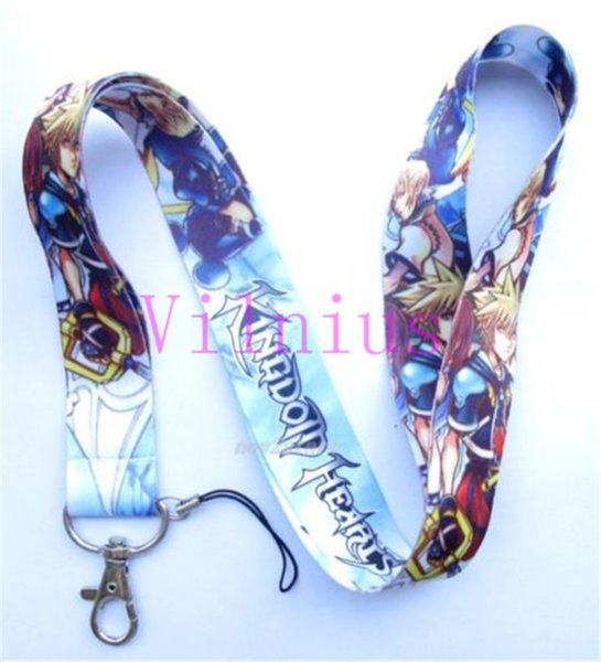 2019 Japanese Kingdom Hearts Blue Neck Lanyard Strap Cell Mobile Phone ID  Card Key Chain From Vilnius, $18 1 | DHgate Com