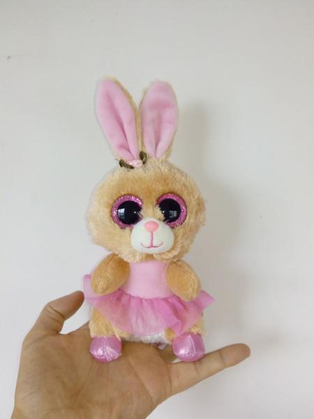 Big Eyes Beanie Boos Kids Ty Stuffed Plush Toys Colorful Muslin Skirt Rabbit Bunny Lovely Birthday Gift Kawaii Cute Animals Doll