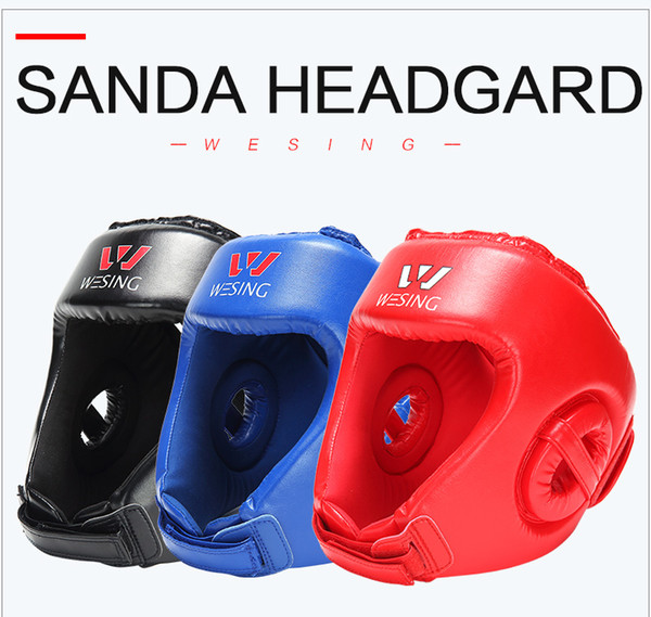 Boxing Head Protector Wesing Sanda Training Headgear Boxing Head Guard Training Helmet Kick Boxing Protection Gear