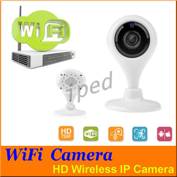 Cheap hot sale Wifi IP Camera HD 720P P2P Mini Wireless Baby Monitor for Home Security support Night Vision with retail package 10pcs
