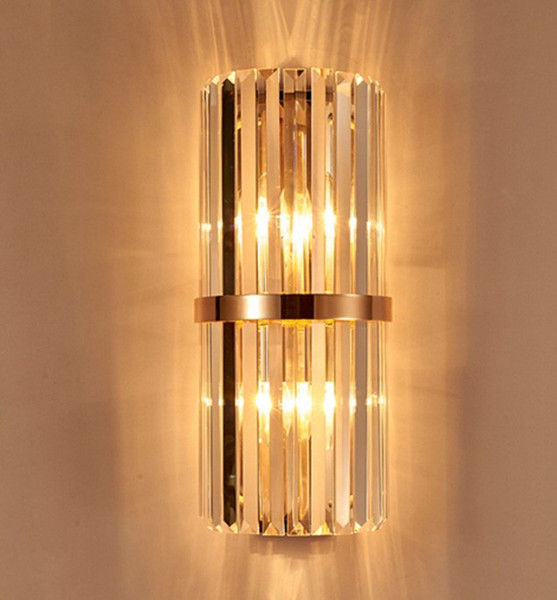 2019 K9 Crystal Wall Sconce Bedroom Wall Lamp With Switch Livingroom Dining Bedroom Led Wall Light Conference Hall Hotel Gold Crystal Lamps Llfa From