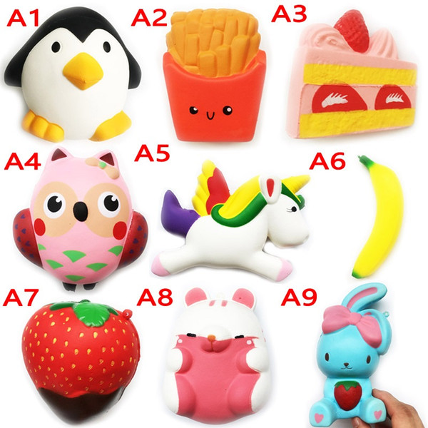 Squishy jouet pegasus miniature alimentaire squishies Slow Rising 10 cm 11 cm 12 cm 15 cm souple Squeeze mignon téléphone portable Strap cadeau Stress enfants jouets 10