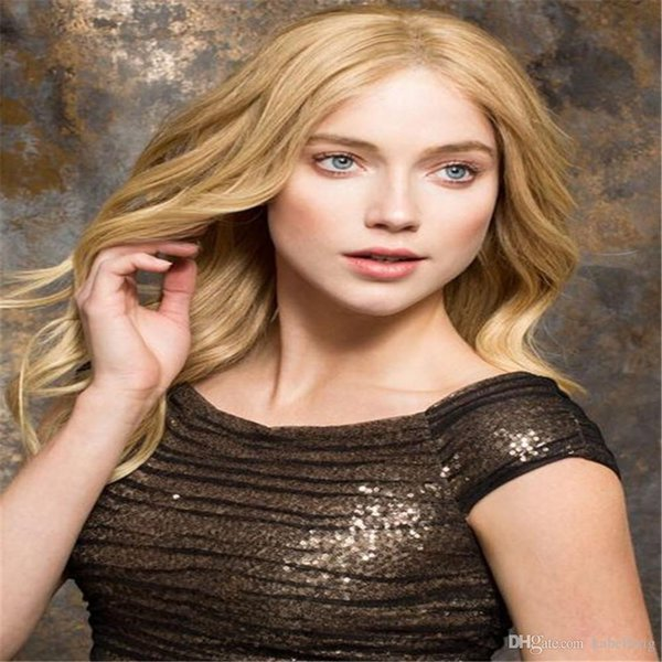 full lace wigs Oulaer Pre Plucked No.27# Honey Blonde Body Wave Brazilian Full Lace Remy Human Hair Wigs for Women 8-22'' Hand Tie