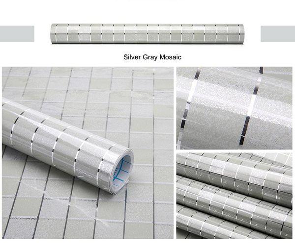 Mosaico Cinza Prata