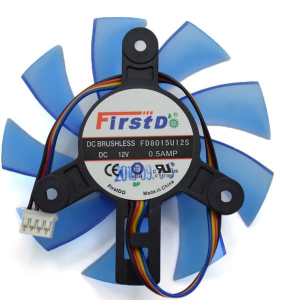 Toptan-Orijinal 75 MM FirstD FD8015U12S DC 12 V 0.5AMP 4Wire HP HD5830 HD5850 5870 R7-260X Için Grafik Fan Soğutucu Fan