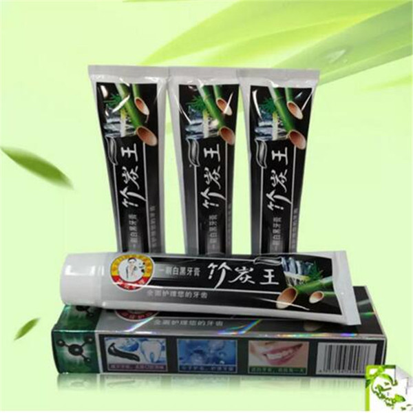 best selling Charcoal Toothpaste Whitening Black Toothpaste Bamboo Charcoal Tooth Whitening Teeth Whitener Oral Hygiene Products Supplies 105g A08