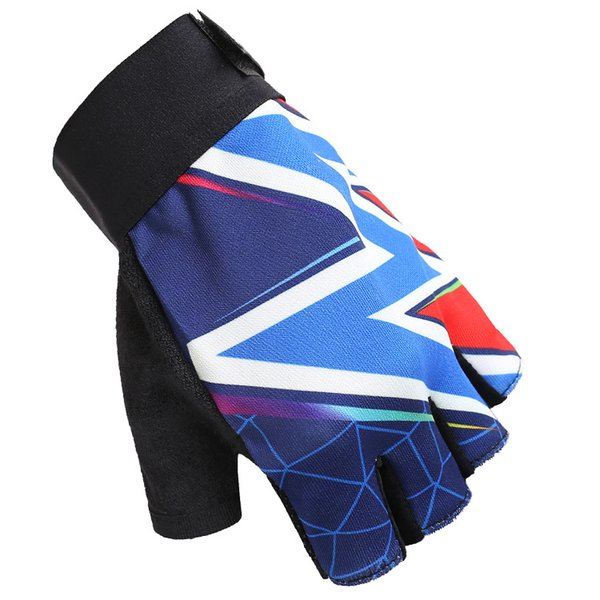 Hot 8 Colors Fashion Cycling Gloves Breathable Bicycle Road Riding Half Short Finger Gloves Fitness Gym Racing Climbing Sports Anti-slip